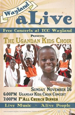 fall2014 poster UgandanKidsChoir